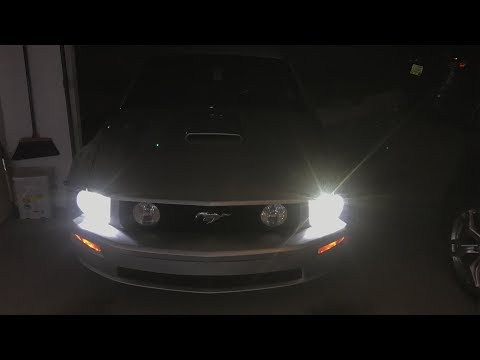 Mustang Headlight bulb Replacement - (LED Conversion)