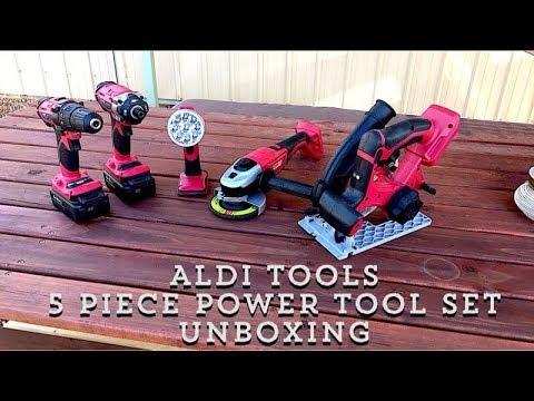 Aldi Tools / 5 Piece Power Tool Set Unboxing