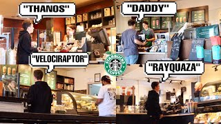 Ridiculous Names At Starbucks PRANK *Will They Spell Them Right?*
