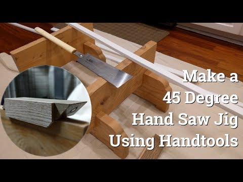 Make a 45 Degree Hand Saw Jig Using Handtools