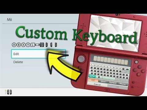 [3DS / Switch] Custom Keyboard W/ Switch Symbols