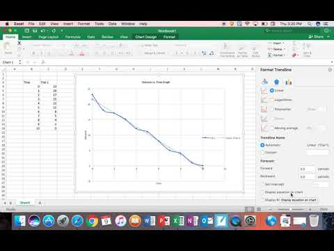 How to Find the Slope Using Excel (Short Version)