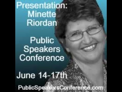 Teaching how to find sponsors for events Minette Riordan: Public Speakers Conference