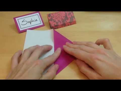 Origami Place Card Tutorial