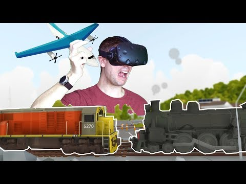 CAUSING CATASTROPHIC TRAIN CRASHES IN VR WITH MODEL TOY TRAINS! - Rolling Line VR HTC VIVE Gameplay