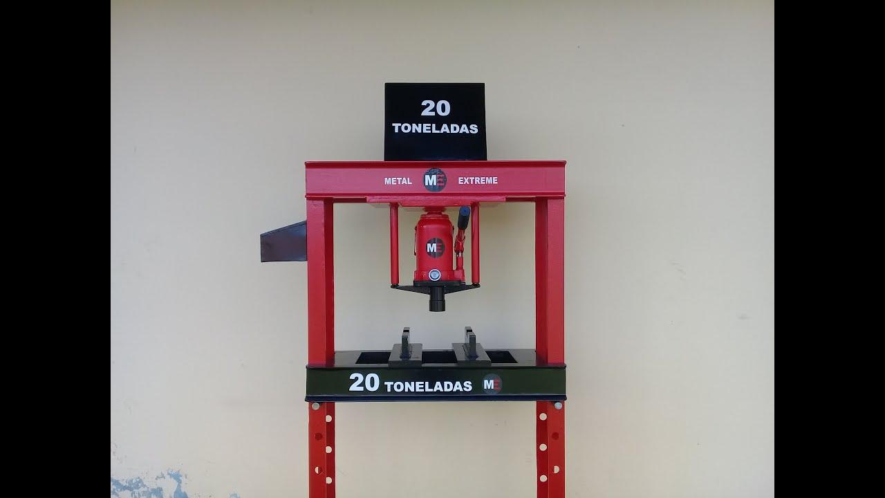 Como hacer una prensa hidráulica 20 ton. parte 2 /Hydraulic press machine.