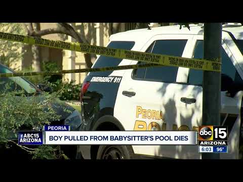 Boy pulled from babysitter's pool in Peoria dies