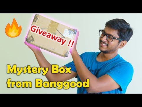 MYSTERY BOX from Banggood + Giveaway !!