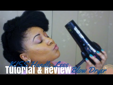 Tutorial | Blow DryTransitioning Hair | KISS Handleless Blow Dryer Review