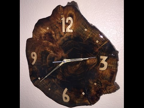 Making a clock out of an old stump in the yard