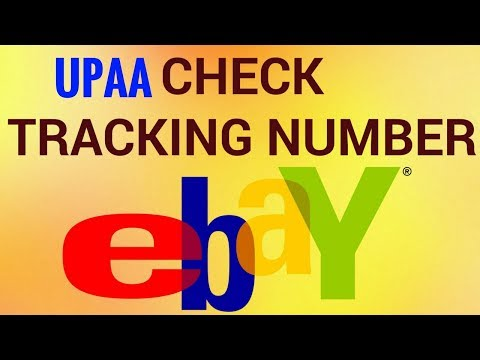 Check eBay UPAA Global Shipping Tracking Number