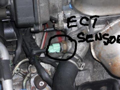 1998 honda civic engine coolant temperature sensor replacement