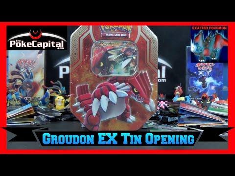 Pokemon Groudon EX Tin Opening vs Exalted pokemon