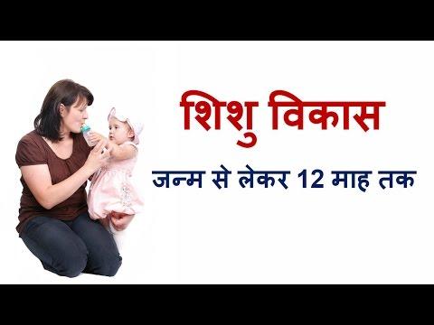 शिशु का विकास-जन्म से लेकर 12 माह/Baby development from 0 to 12 months/newborn baby development