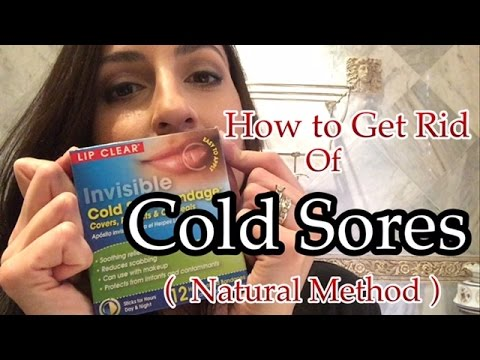 How to Heal & Get Rid of Cold Sores | Fever Blisters FAST Natural Remedy | Organic Method