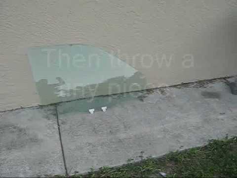 How to break the car window by spark plug
