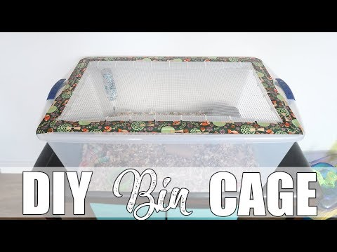 How to Make a Bin Cage   DIY Hamster Cage