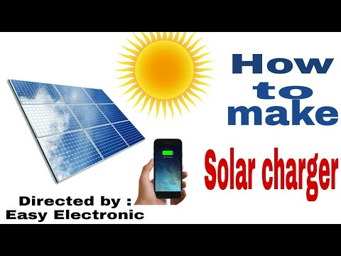 How to make solar charger for mobile phone at home