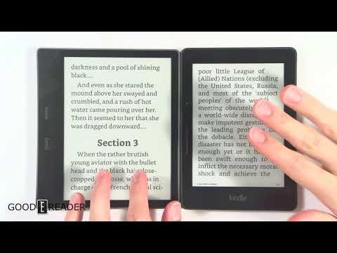 Amazon Kindle Oasis 2017 vs Kindle Voyage - Comparison