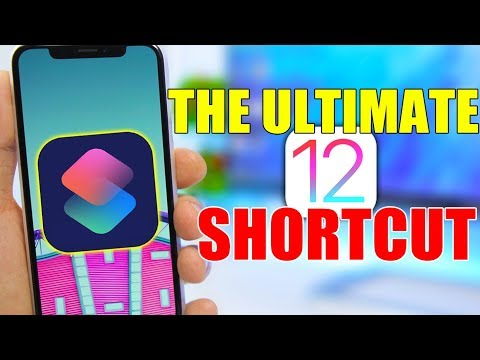 The ULTIMATE iOS 12 Shortcut ( Everyone MUST HAVE )