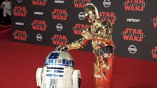 "RD-D2, C-3PO, BB-9E, BB-8  ""Star Wars: The Last Jedi"" World Premiere Red Carpet"