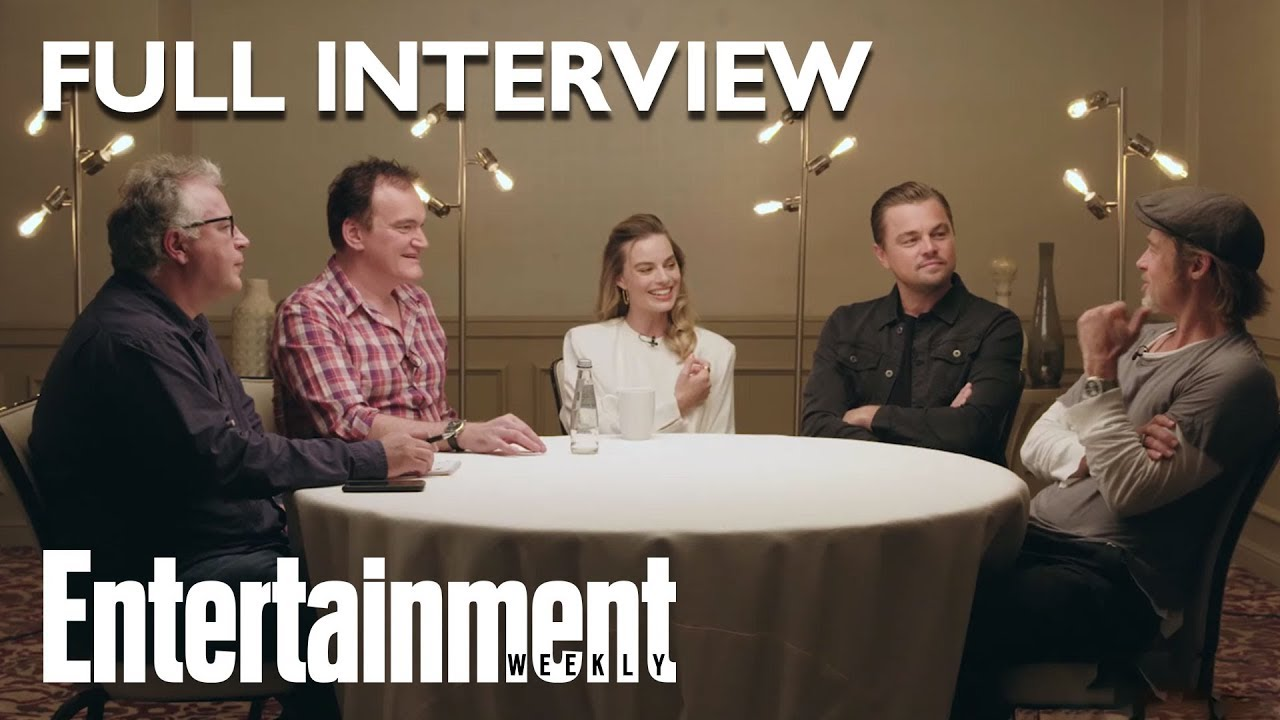 Once Upon A Time In Hollywood Roundtable: Brad Pitt, Leonardo DiCaprio, More   Entertainment Weekly
