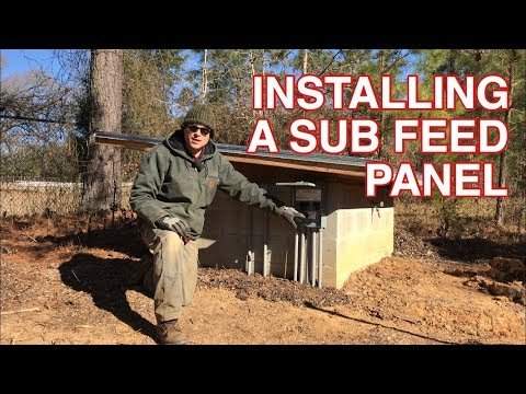INSTALLING A 100 AMP SUB PANEL (for chicken processing equipment)