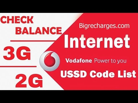 Vodafone USSD Codes for prepaid Users