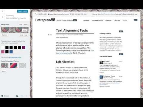 Entrepreneur WordPress Theme: Setting a Custom Background Image (Step 6)