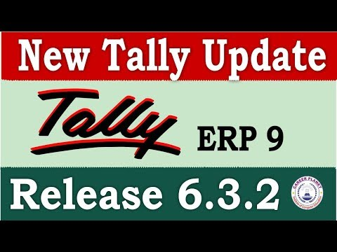 Tally ERP 9 Release 6.3.2 Tally Update|Download and Install Latest Tally Version for GST