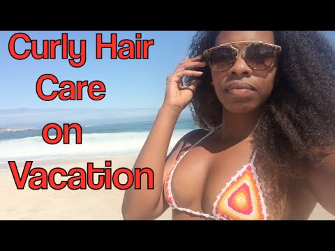 How To Care for Curly Hair Extensions on Vacation