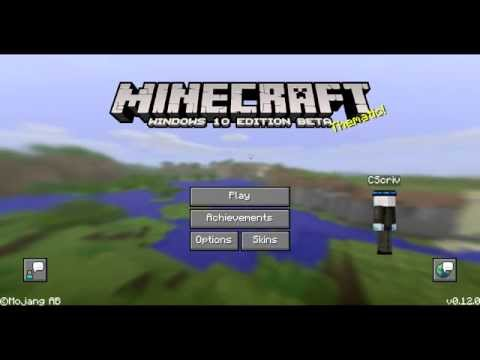 Minecraft Windows 10 Edition Get Your Own Custom Skin Tutorial