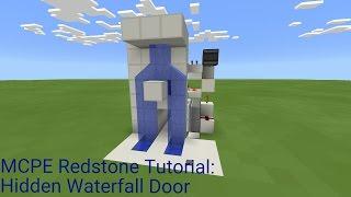 Minecraft Pocket Edition Redstone Tutorial Hidden Waterfall Door