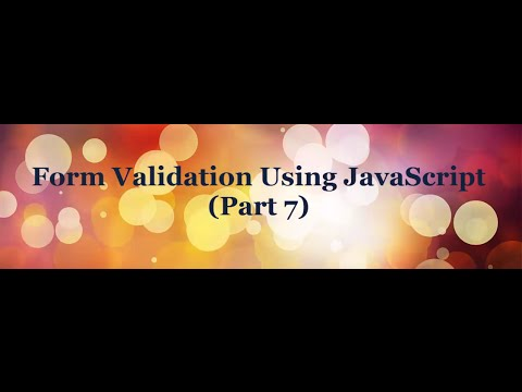 Form Validation Using JavaScript tutorial (Part-7) - Select and CheckBox Validation