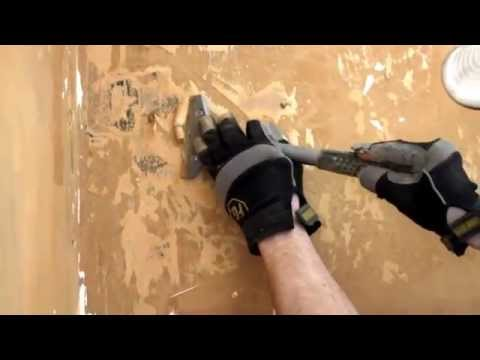 How to Scrape Wallpaper off of Plaster Walls - Part II