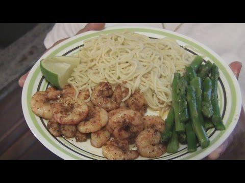 Angelo's Mom Makes Shrimp, Pasta, & Asparagus