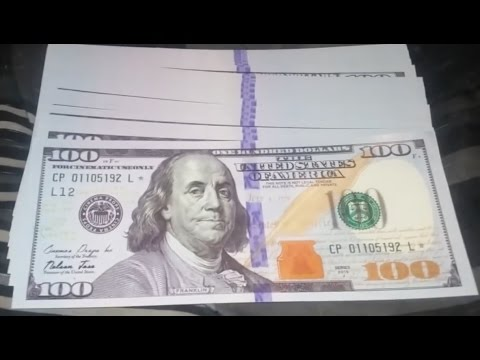 FAKE OR REAL? Hundred Dollar Bills Found All Over Town