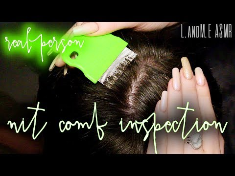 ASMR 💆 || REAL PERSON scalp & hair inspection with lice nit comb || 20MINS || no talking 🤐 ||