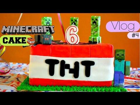 Vlog  #4 Preparando un pastel de Minecraft TNT Cake