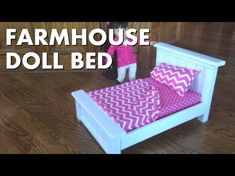 Awesome Farmhouse Doll Bed for American Girl Size Dolls 18