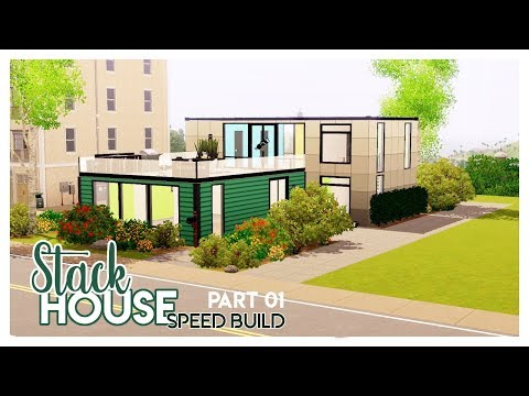 Stack House Part 01 | Speed Build | The Sims 3