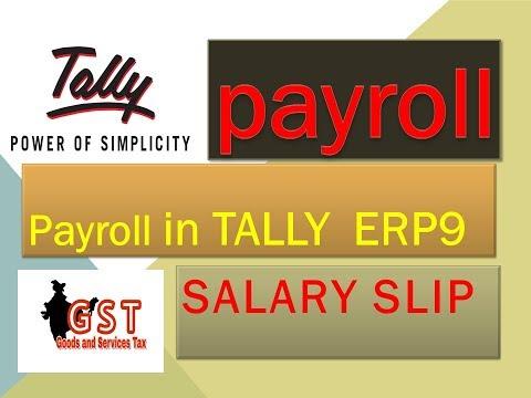 payroll in tally erp9 II salary slip zero level to advance