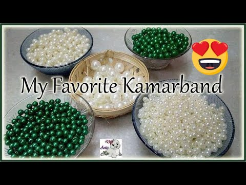 #182 Make Waist Belt With Pearls    Kamarband    Vaddanam    Bridal Collection    Jewellery Making