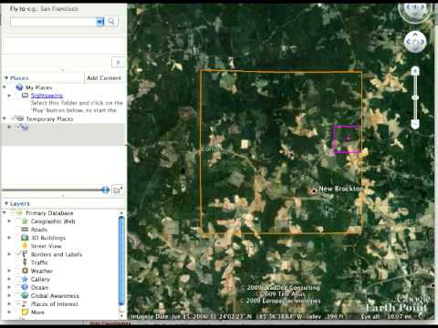 Find Your Ancestors Land Records Using Google Earth
