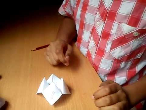 How To Make A Simple Chatterbox or Fortune Teller With Paper