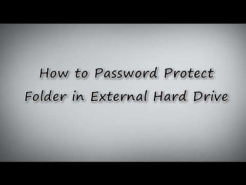 Password Protect Folder in External Hard Drive