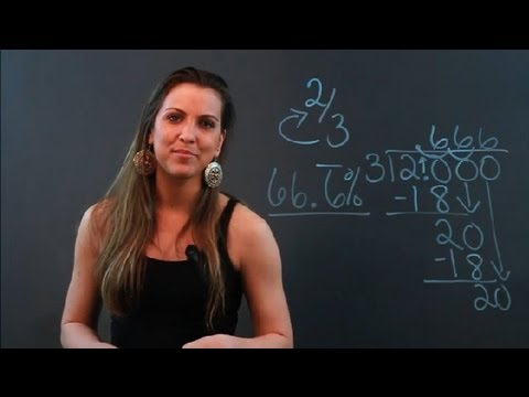 How to Convert Two-Thirds Into a Percentage : Algebra Help
