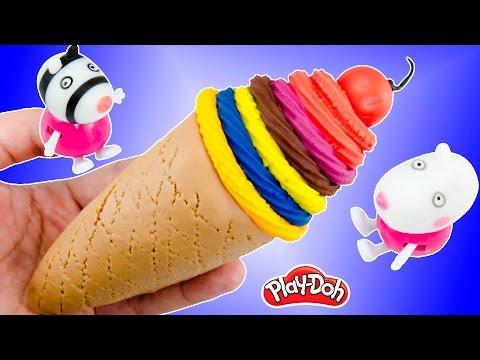 Play Doh Rainbow Swirl Ice Cream Cherry Creative For Kids