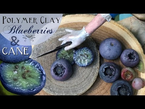 Real or Clay? EASY Realistic Polymer Clay Blueberry Method! Fake Food & Polymer Clay Cane Tutorial