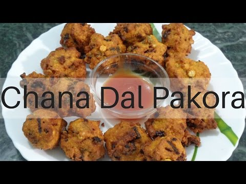 Chana Dal Pakora-Chana Dal Fritters-Masala Vada-Indian Appetizer by cooklaplaza